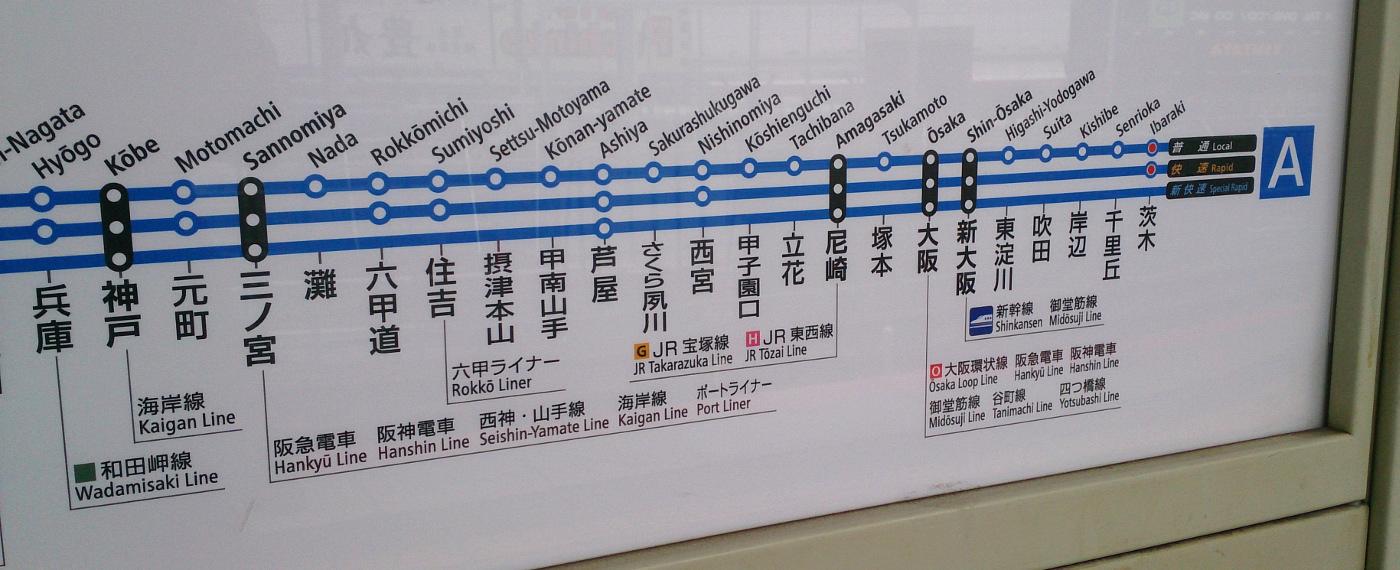JR京都線路線図
